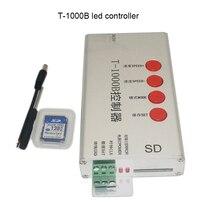DC5V-24V T1000B with SD Card WS2801 WS2811 WS2812B LPD8806 6803 LED strip digital 2048 Pixels dimmer DMX512 RGB Controller недорого