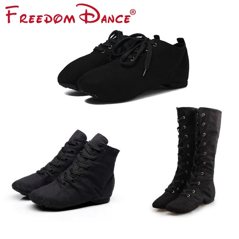 Cloth Adults DanceSport Shoes Jazz Dance Shoes Lace up Ballet Dance Shoes Gym Yoga Fitness Karate Shoes Boot Sneakers Unisex
