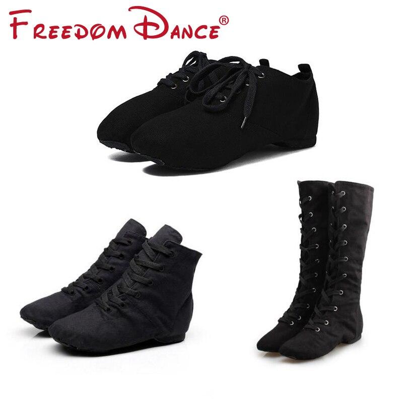 Tuch Erwachsene Dancesport Schuhe Jazz Dance Schuhe Lace Up Ballett