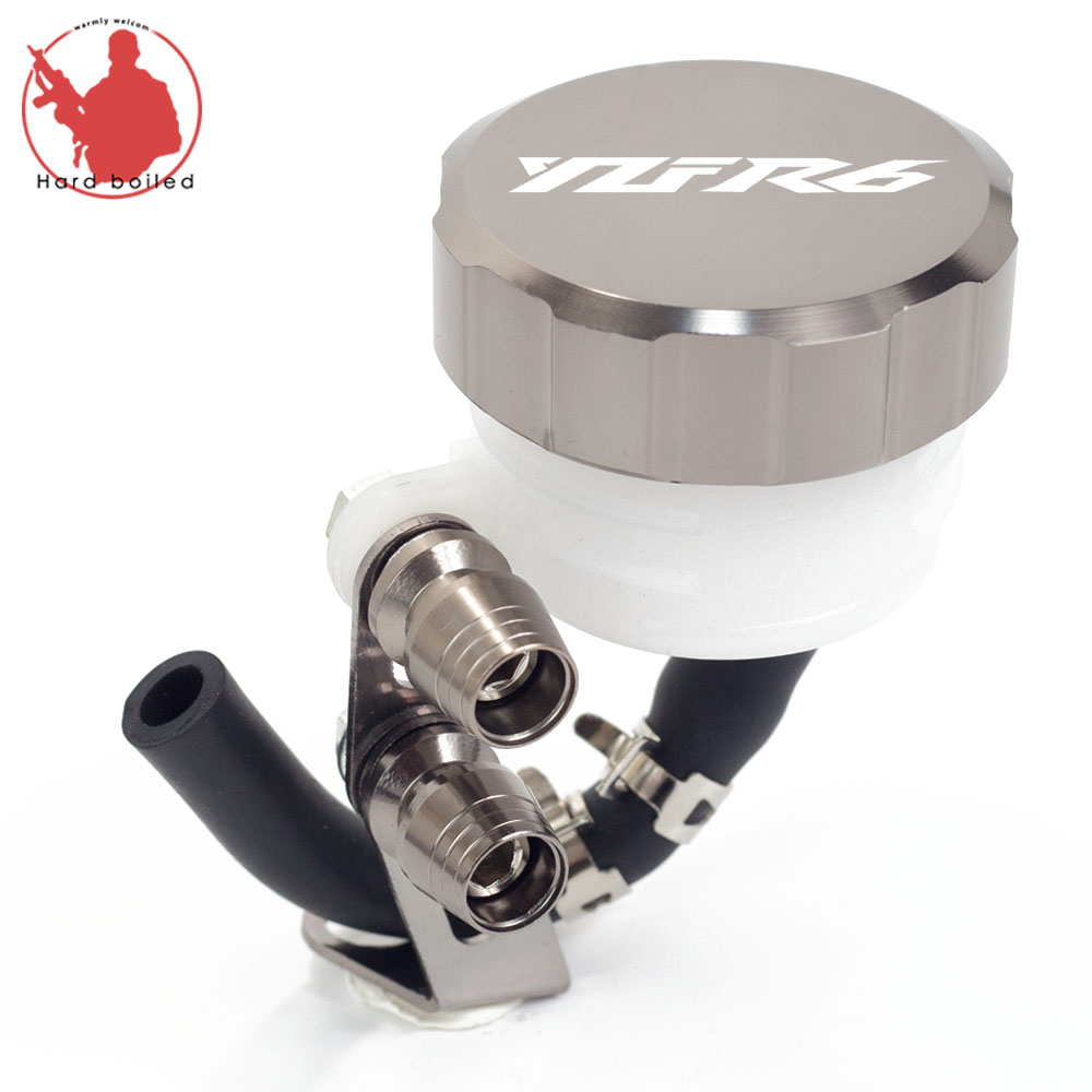 Motorcycle Brake Fluid Reservoir Clutch Tank Oil Fluid Cup For Yamaha YZF-<font><b>R6</b></font> YZF <font><b>R6</b></font> YZFR6 1999-2013 2014 2015 2016 <font><b>2017</b></font> 2018 image