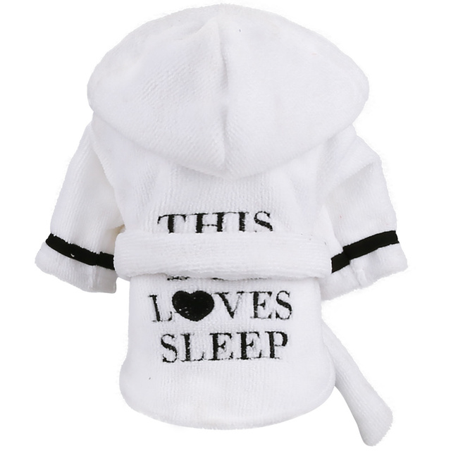 438ae6dab Dog Pet Pajamas Bichon Cat Clothes Dog Robe Leisure Wear Teddy Puppy Hoodie  Soft Cute Print Pjs XS S M L XL 2XL-in Dog Hoodies from Home & Garden on ...