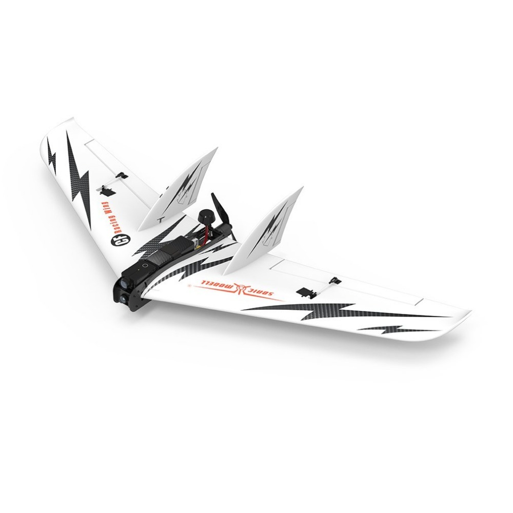 SONIC MODELL CF Racing Wing 1030mm Wingspan Carbon Fiber EPO FPV Racing Wing FPV Fixed Wing PNP Version RC Airplane Accessories
