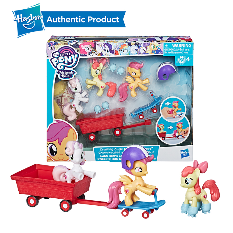 Hasbro My Little Pony Cruising Cutie Mark Crusaders Action Figure Collection Model Doll For Kid Girl Gifts in Action Toy Figures from Toys Hobbies