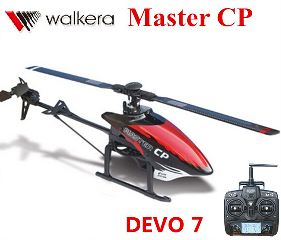 Original Walkera Master CP With DEVO 7 Transmitter Mini 6CH 3D Flybarless RC Helicopter (with battery and charger) RTF walkera master cp flybarless rc helicopter 6ch 6axis gyro