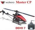 Original Walkera maestro CP devo 7 emisor Mini 6CH 3D Flybarless RC Helicopter ( con la batería y cargador ) RTF