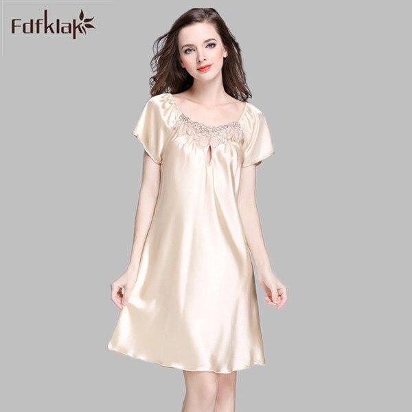 db1e7700583c314 Плюс Размеры Для женщин Ночные рубашки для девочек элегантные летние женские  пижамы платье принцессы Рубашки женские