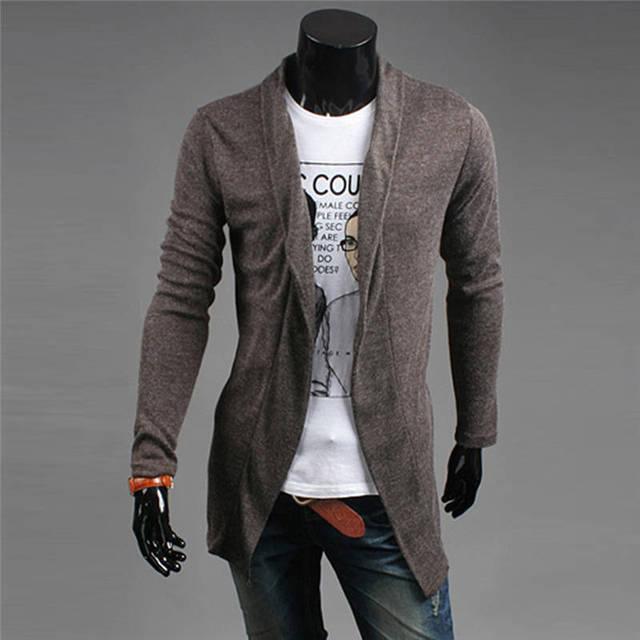 Aliexpress.com: Comprar Hombres Cardigan Géneros de Punto Suéter ...