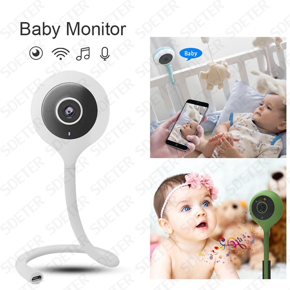 SDETER Nanny Camera Baby Monitor della Macchina Fotografica di Wifi Bebe di Sicurezza Della Macchina Fotografica Intercom 2 Vie Parlare di Visione Notturna di Controllo Della Temperatura Ninna Nanna