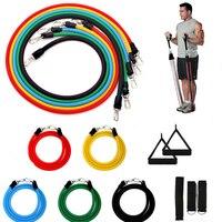 11 шт. Регулируемый эластичный ремешок для фитнеса, ремешки для фитнеса, Кроссфит, мускулация, тренировка, трубка для бодибилдинга, тренажеры