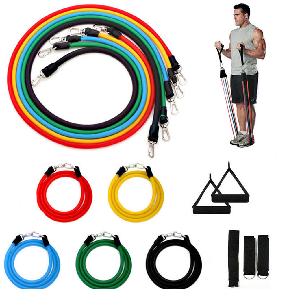 11Pcs Adjustable Elastic Band For Fitness Resistance Bands Crossfit Musculation Workout Training Tube Bodybuilding Gym Equipment