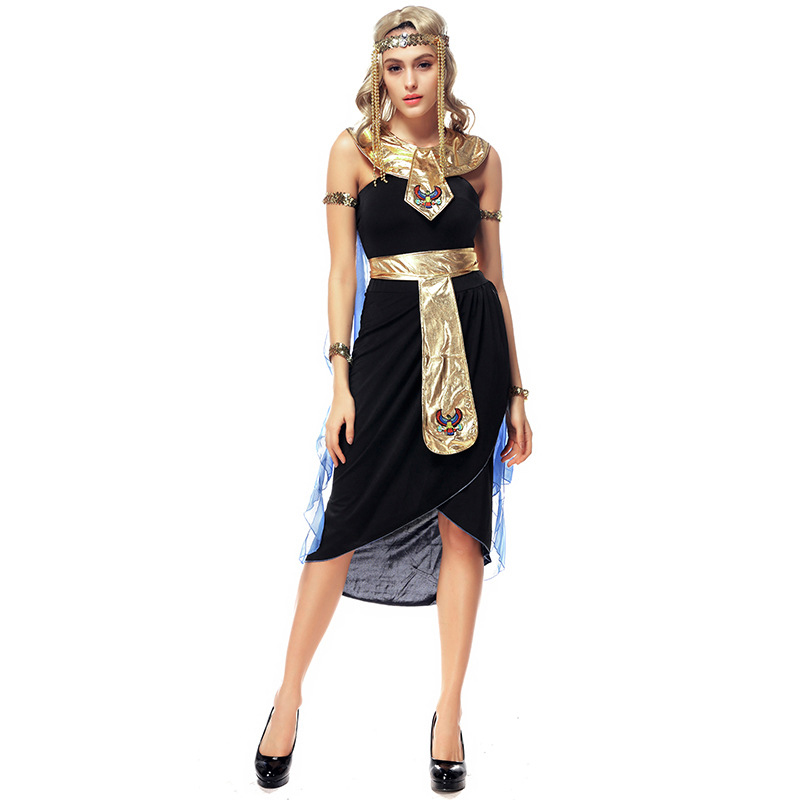 Fantasias Halloween Greek Goddess Dress Role Playing Indian Dance Performance Dress Egyptian Queen Cleopatra Masquerade Costumes
