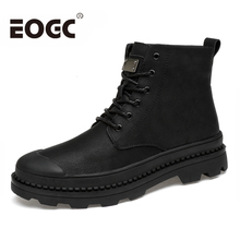 Size 38-46 Autumn Winter With Fur Men Boots High Quality Ankle Boots Lace Up Snow Boots Handmade outdoor men shoes