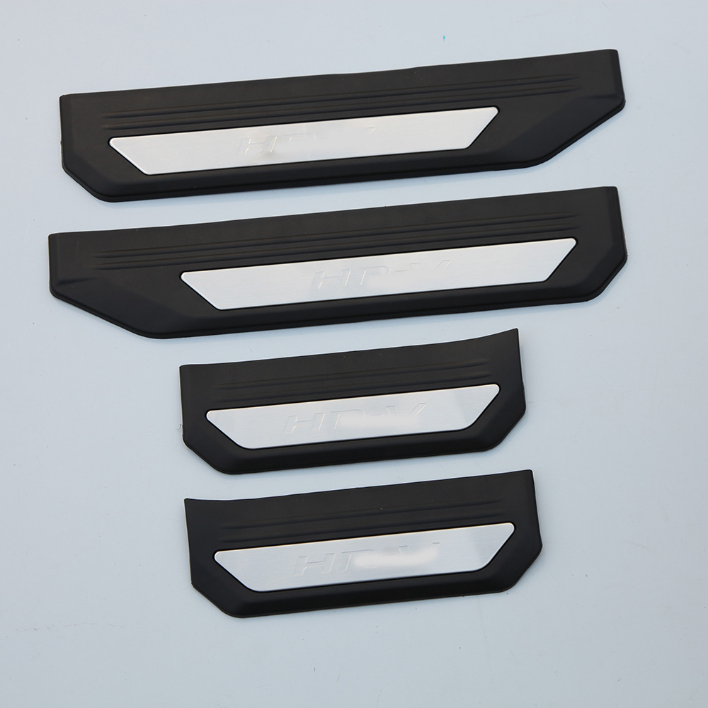 KOUVI Stainless steel Car parts Welcome Scuff Plate door sill 4pcs/set for <font><b>Honda</b></font> <font><b>HRV</b></font> HR-V Refitting <font><b>Accessories</b></font> 2014 2015 2016 image