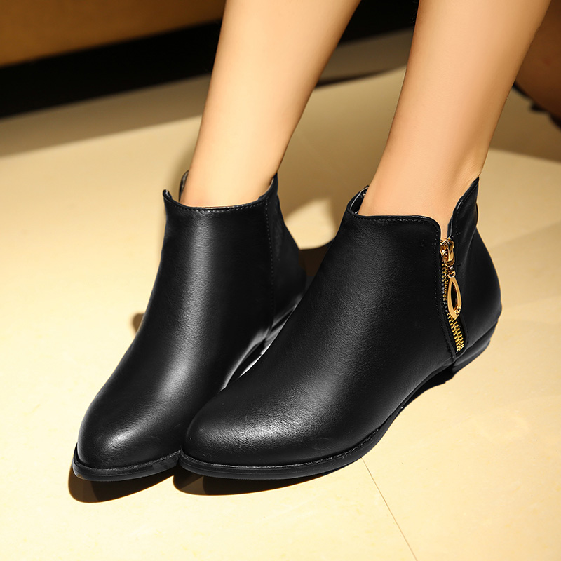 Popular Flat Ankle Boots-Buy Cheap Flat Ankle Boots lots from ...