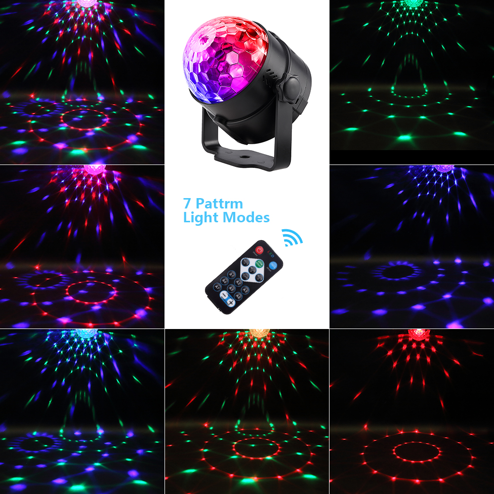 Led Disco Light Stage Lights DJ Disco Ball Lumiere Sound Activated Laser Projector effect Lamp Light Music Christmas Party#30