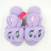Millffy Summer silky velvet fish mouth big eyes adorable bunny rabbit slippers waterproof non-slip indoor home slippers