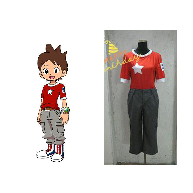 2016 Japanese Anime Youkai Watch Cosplay Costume Amano Keita Cosplay ...