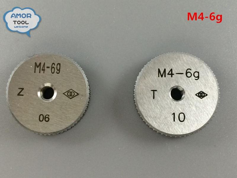 T+Z M4-6g metric thread ring gage gauge tools(set of 2 ) for detecting a standard diameter of external thread  цены