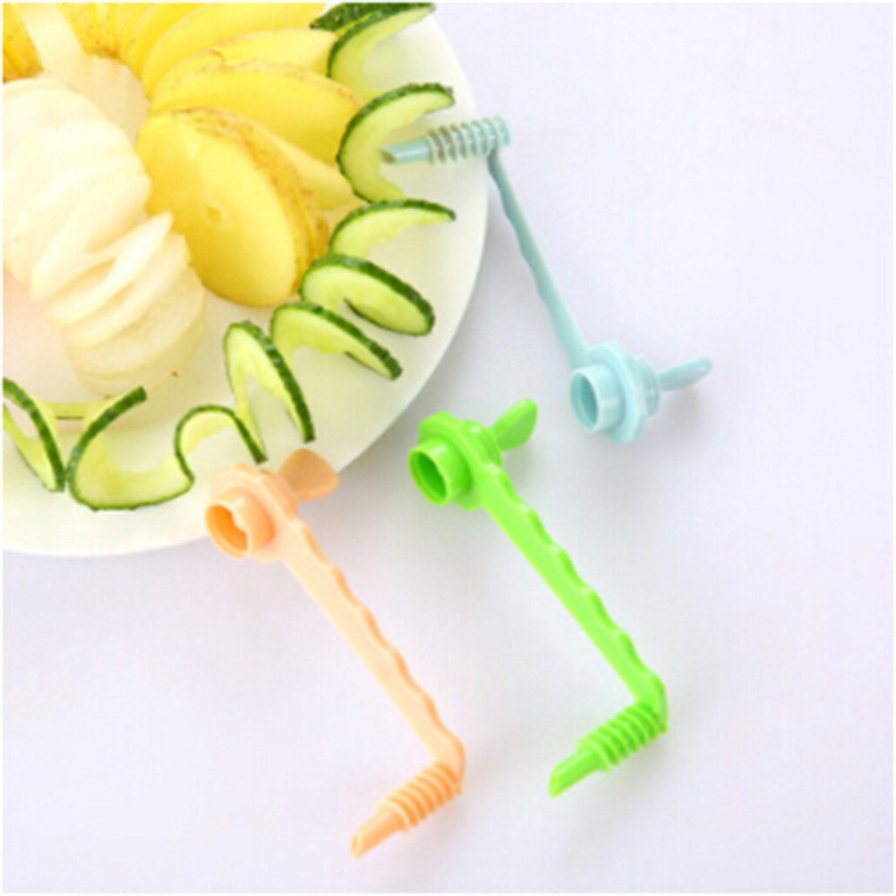 2018 New Rotate Potato Slicer Eco-Friendly Healthy Creative Fruit & Vegetable Tools Twisted Potato Slice Cutter Spiral