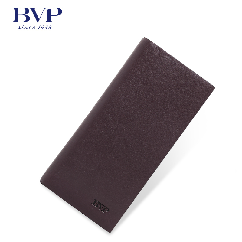 BVP High-end Business 100% Genuine Leather Branded Bifold Long Wallet ID Window Credit Card Holder Purse Clutch Bag brown Q501 new men genuine wallet fashion casual pu credit id card holder purse wallet long business male clutch hot selling 2016