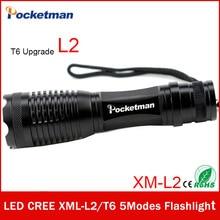 Zk50 CREE XM-L2 lúmenes 4500LM LED Linterna Zoomable T6 LED antorcha linterna Linterna Impermeable Brillante Estupendo