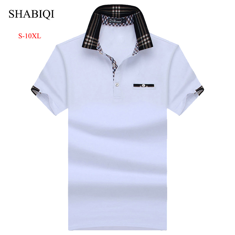 SHABIQI New Classic Mens PoloShirts short sleeve autumn Men's Shirt Brands Camisa   Polo   Masculina Plus Size 6XL 7XL 8XL 9XL 10XL