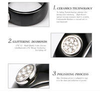 2018 кольцо керамическое с мм 8 мм модное изысканное стразовое керамическое кольцо для женщин плюс один большой кристалл свадебное женское подростковое кольцо ювелирные изделия