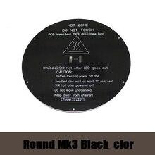 3PCS Delta rostock MK3 heat bed Aluminum heat bed dual power 3D printer RepRap MK3 heat bed mk2b MK2A Black color