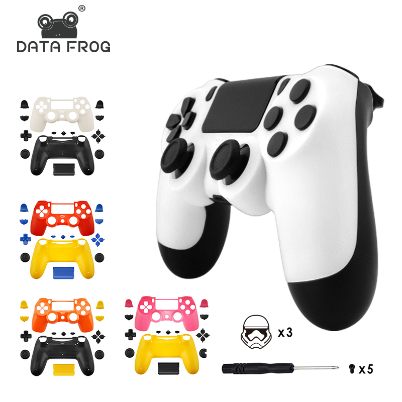 Replacement shell for PS4 Slim Pro controller Full Set shell and buttons repair for Dual Shock 4 Wireless Controller цена 2017