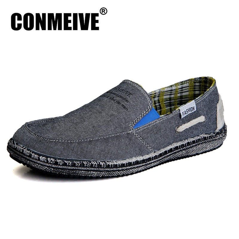 Hot Sale Low Mens Breathable High Quality Casual Shoes Jeans Canvas Slip On Men Fashion Flats Loafers Spring/autumn Massage