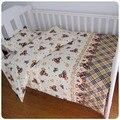 ¡ Promoción! 3 UNIDS Gatito Mickey Bebé de Algodón juego de cama juego de cama cuna juego de cama de bebé, funda Nórdica/Hoja/Funda de almohada,