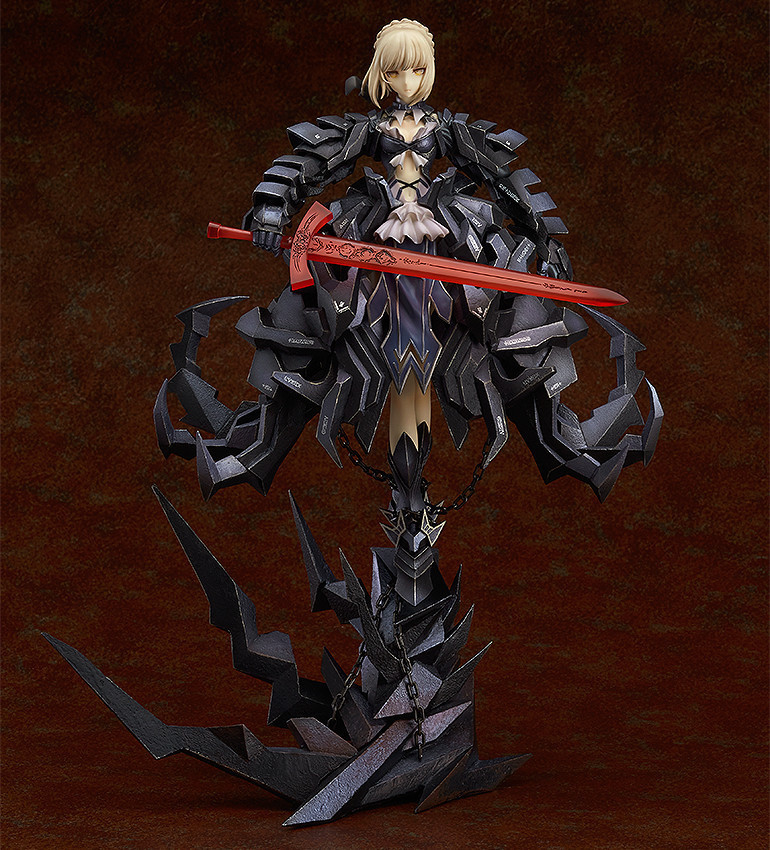 Fate Stay Night Saber black painted 1/5 scale ACGN alternative way Brinquedos Anime PVC Action Figure Collectible Model Toy 33cm anime fate stay night saber triumphant excalibur 1 7 painted pvc figure collection model jids toys gift collectible toy