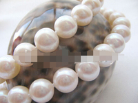 song voge gem nanJ0699 natural white perfect round freshwater pearl necklace 925 silver