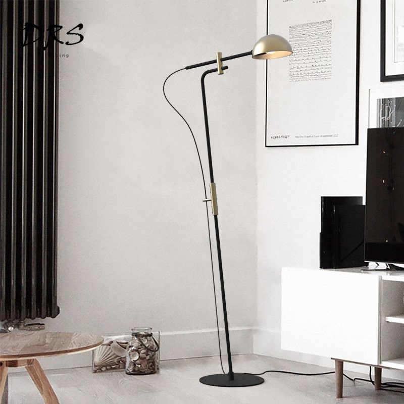 Романтическая промышленность Ретро лампа напольная Современная креативная спальня стоячие лампы для гостиной алюминиевая крышка Декор напольные светильники