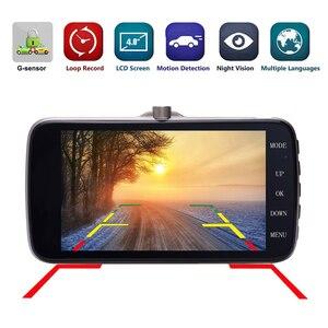 Image 2 - Podofo Novatek 96658 4.0 Inch IPS Screen Dual Lens Car DVR Camera Full HD 1080P Vehicle Video Recorder Dash Cam
