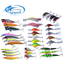 Agepoch Fishing Lure Fly Fishing Tackle Feeder Carp Peche Crankbait Popper font b Fishhook b font