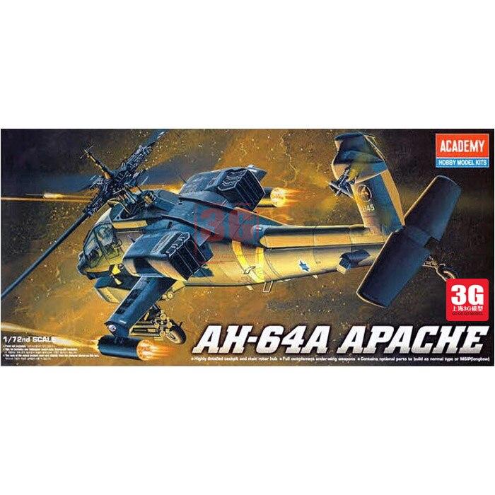 1/72 AH - 64 Apache Gunships Assembled Aircraft Model 12488