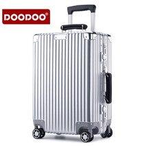 DOODOO 20 zoll 24 Aluminium Rollgepäck Internat Spinner Rad Koffer koffer ABS Trolley mala de viagem koffer XL002