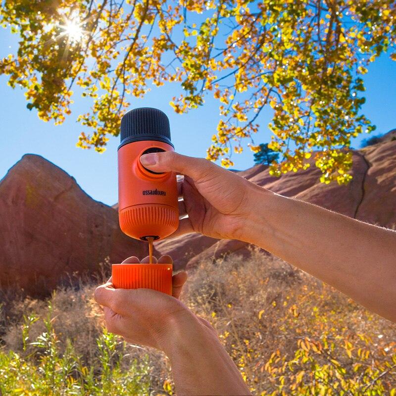 Ev ve Bahçe'ten Kahve Demlikleri'de Wacaco Nanopresso Taşınabilir Espresso makinesi, Kahve Makinesi, Yükseltme Sürümü Minipresso, 18 Bar Basınç, turuncu Devriye Baskı.'da  Grup 3
