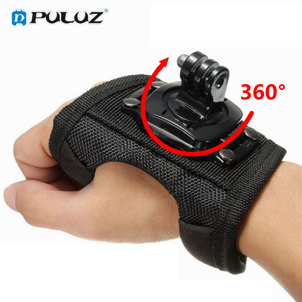 360 Degrees Wrist Band Arm Strap Belt Tripod Mount for GoPro Hero 4 3+ 3 2 Camera Fist Adapter Band Case for Go Pro Accessories
