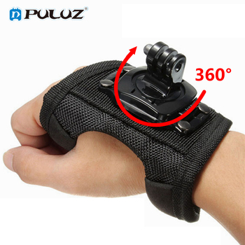 360 Degrees Wrist Band Arm Strap Belt Tripod Mount for GoPro Hero 8/7/6/5/4/3+/2 Camera Fist Adapter Band for Go Pro Accessories handheld gimbal adapter switch mount plate for gopro 6 5 4 3 3 yi 4k camera for dji osmo for feiyu zhiyun smooth q gimbal