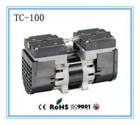 TC 100 AC110V/220V Electric mini oil free diaphragm 100w vacuum pump Medical mute pump with 24L/min vacuum flow