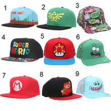Game Super Mario Odyssey Cappy Hat Rick and Morty Hat The Legend of Zelda Link Caps Cotton baseball Soft Cosplay toys(China)