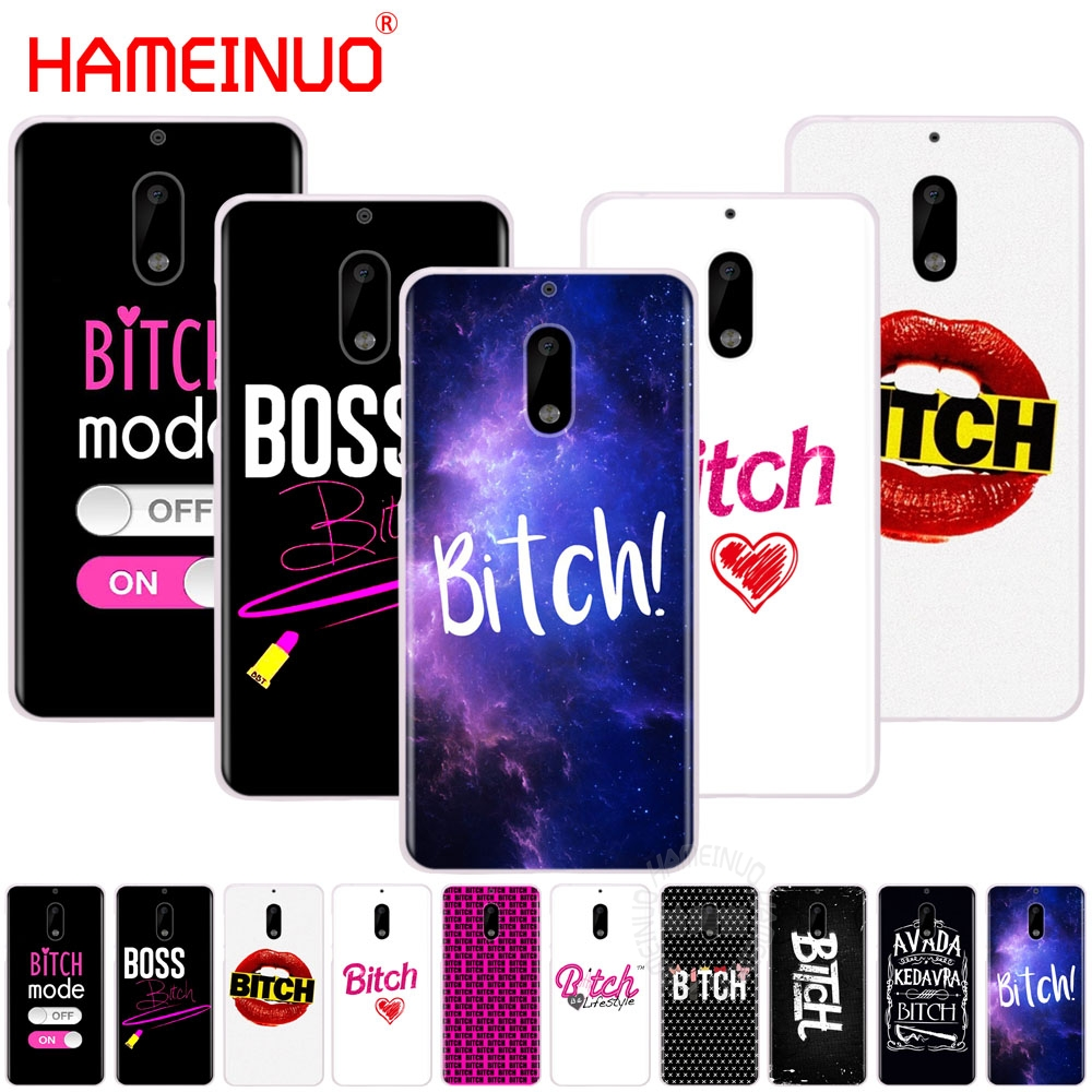 HAMEINUO Bitch mode on pink boos cover phone case for Nokia 9 8 7 6 5 3 Lumia 630 640 640XL 2018 ...