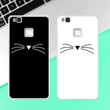 Beard Cat Phone Case coque For Huawei P8 P9 P10 Lite 2017 Case Back cover(China)