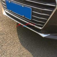 Car Front Bumper Lid Cover Trim Strip Sticker ABS Chrome For Audi A4 B9 8W 2017