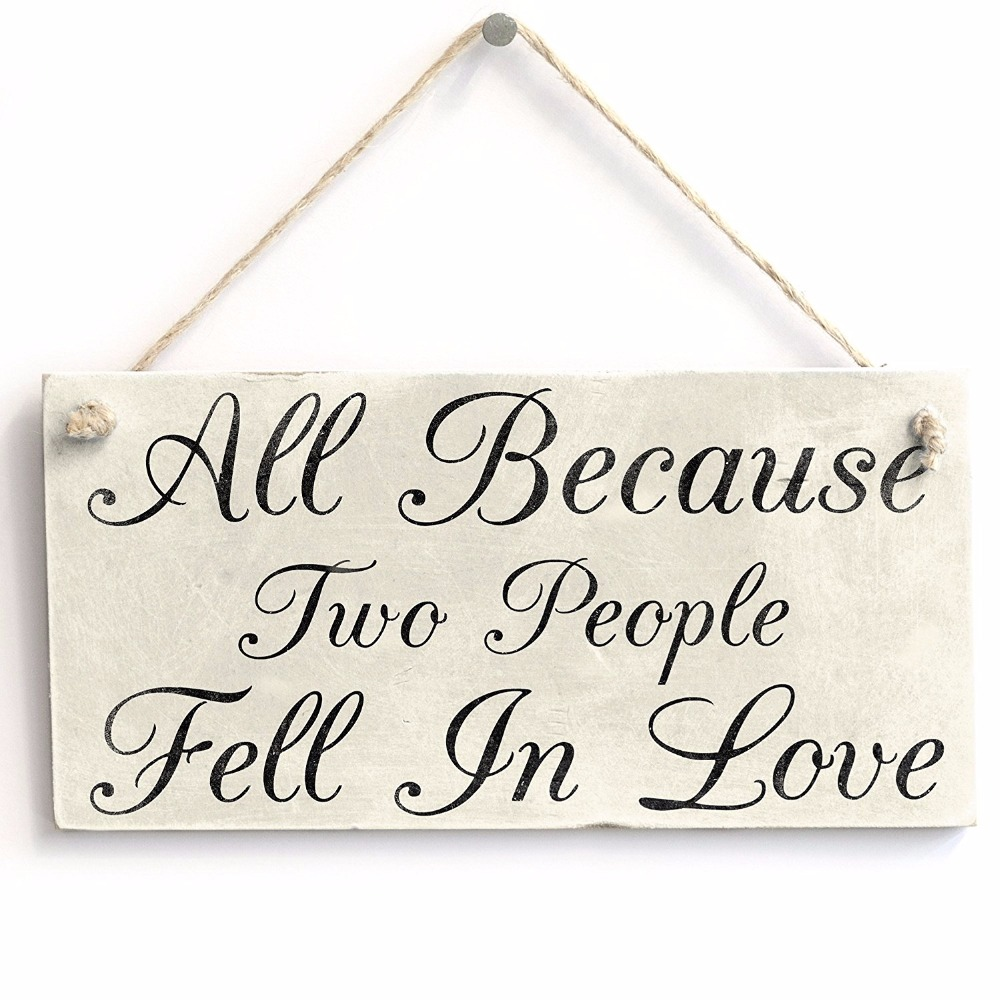 Deux personnes fell in love plaque signe