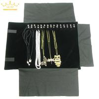 SN 1710070 Fashion Fine Necklace Jewelry Display Roll Travel Storage Bags Open Size 55 X 30
