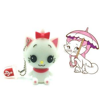 (over 10 PCS) Free LOGO customized usb flash drive 64g pen drive 32g pendrive 16g 8g Cute Cat Model pendrive Usb memory stick