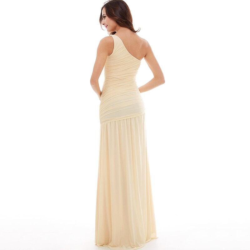 Tanpell дълга вечерна рокля шампанско - Рокли за специални поводи - Снимка 3